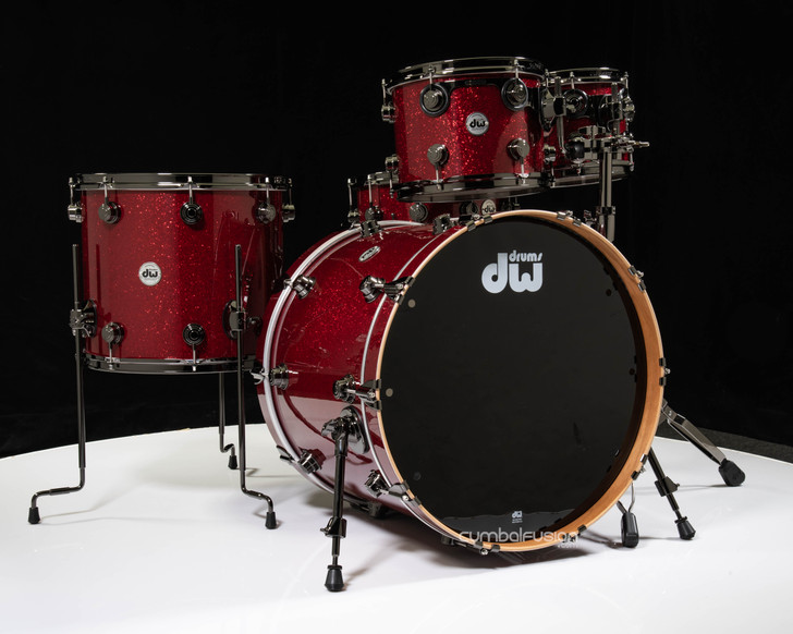 DW Collector's Pure Cherry 5pc Shell Pack - Ruby Red Glass