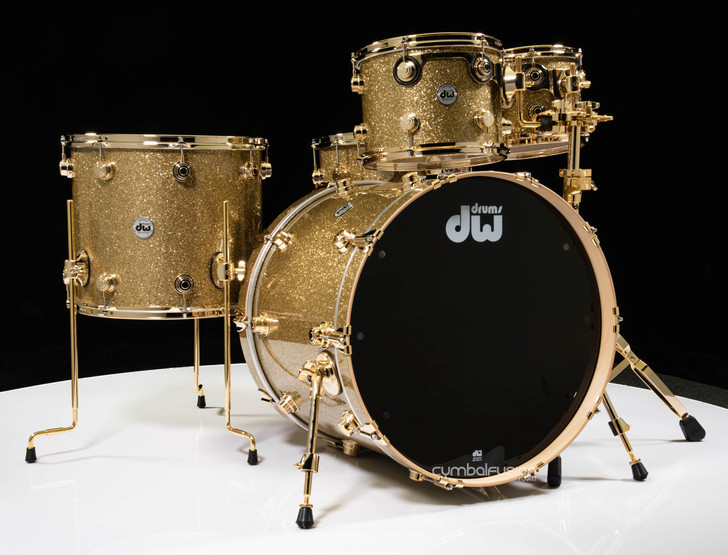 DW Collector's 5pc Maple/Spruce Shell Pack - Gold Glass w/Gold HW