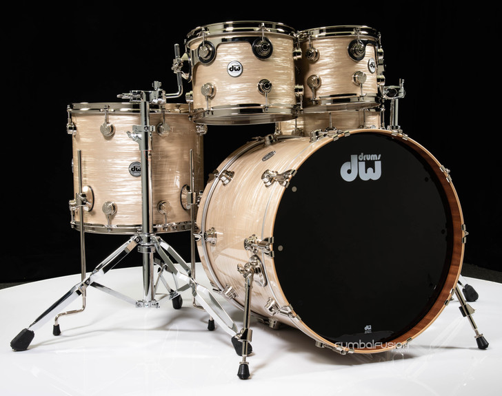 DW Collector's 5pc Maple / Mahogany Shell Pack -Creme Oyster