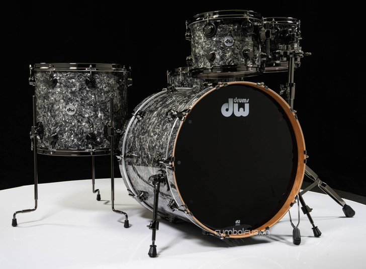 DW Collector's 5pc Cherry / Spruce Shell Pack -Silver Abalone