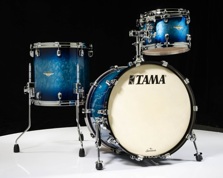 Tama Starclassic Maple 3pc Kit  - Molten Electric Blue Burst 12/14/20