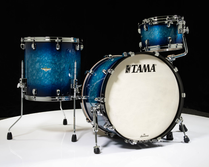 Tama Starclassic Maple 3pc Kit  - Molten Electric Blue Burst 12/16/22