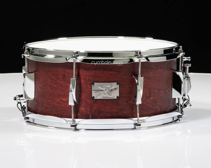 Canopus Yaiba 6.5x14 Maple Snare Drum - Dark Wine Red Matte Lacquer