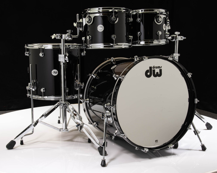 DW Design Series 4pc Shell Pack - Piano Black