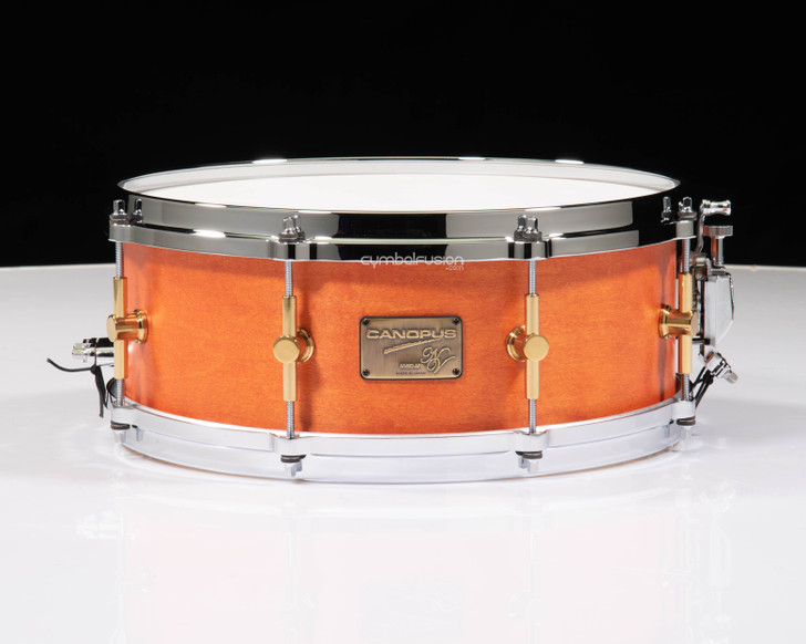 Canopus NV60M1 5.5x14 Navel Oil Snare - Diecast Hoops with Brass Lugs