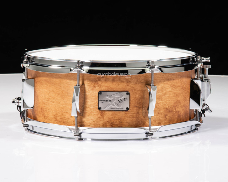 Canopus Yaiba 5.5x14 Birch Snare Drum - Antique Natural Matte Lacquer