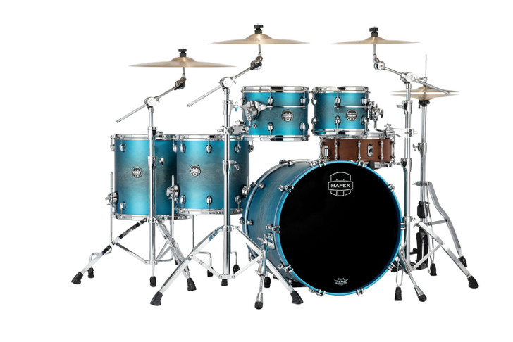Saturn Evolution Maple/Walnut 5pc Workhorse Kit - Exotic Azure Burst