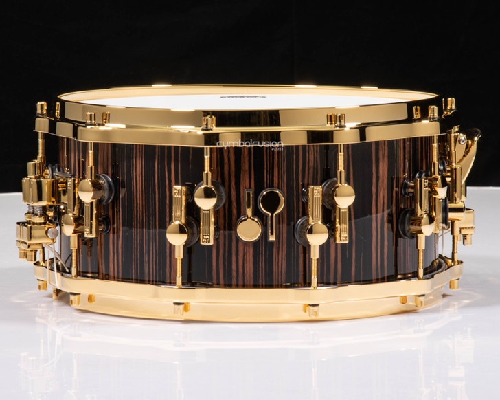 Sonor SQ2 14x6.5 Beech Snare Drum - Ebony (High Gloss) w/ Gold HW
