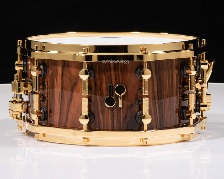 Sonor SQ2 14x7 Beech Snare Drum - Rosewood w/ Gold HW