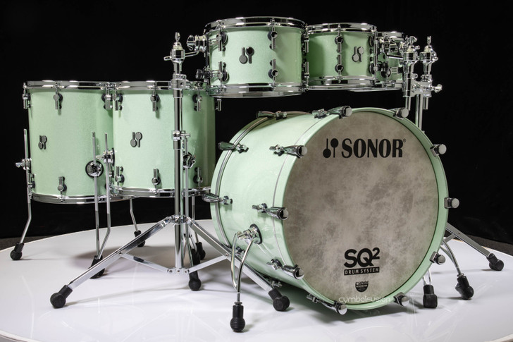 Sonor SQ2 6pc Beech Kit - Mint Sparkle w/African Marble