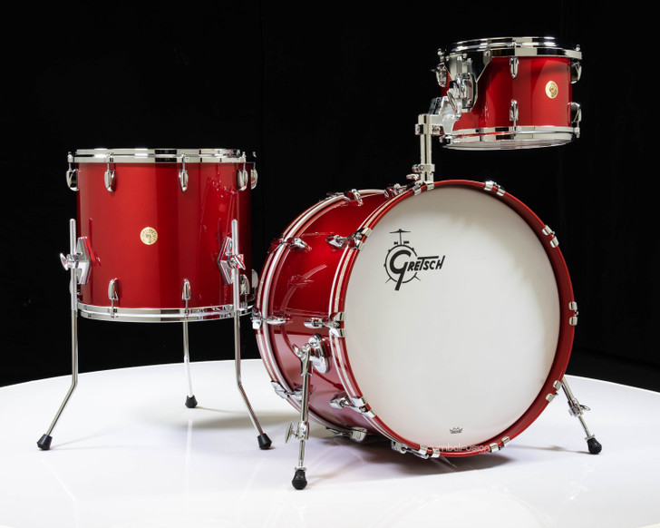 Gretsch USA Custom 3pc Candy Apple Red with Silver Glass Inlay