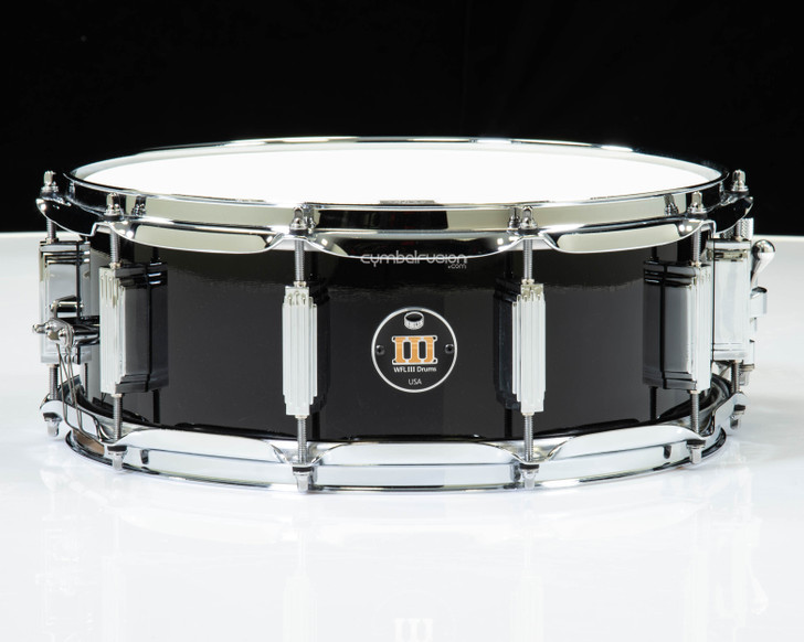 WFL III Drums 1728N Series 5.5x14 Maple Snare - Piano Black Lacquer