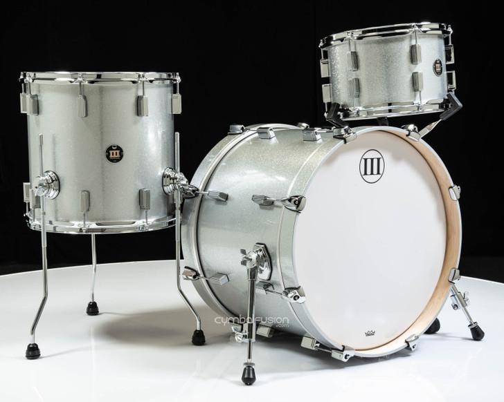 WFLIII Drums Generations Maple 3pc Drum Set - Silver Sparkle