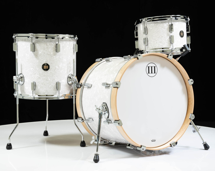 WFLIII Drums Generations Maple 3pc Drum Set - White Pearl