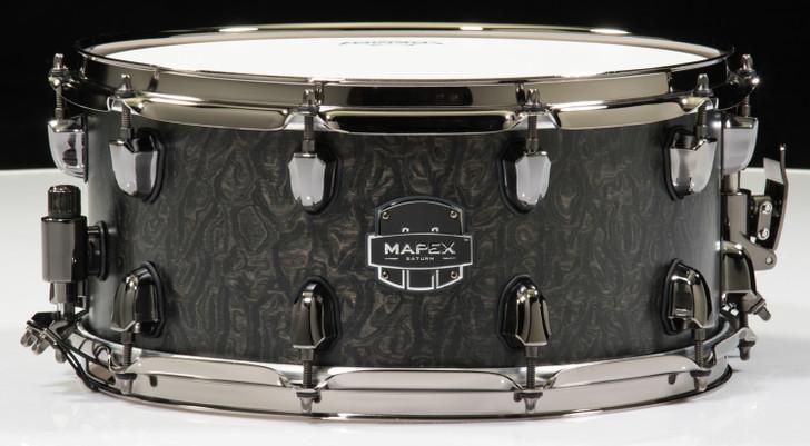 Mapex Saturn 14x6.5 Snare Drum Flat Black Maple Burl - Open Box Demo