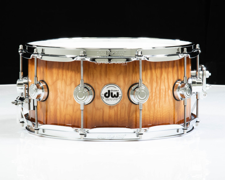 DW Collector's 6.5x14 Snare - Burnt Toast Burst over Quilted Maple