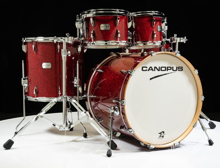 Canopus Yaiba II Birch 5pc Groove Kit - Dark Red Sparkle