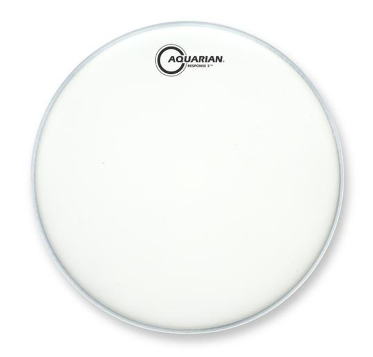 """Aquarian Response 2 White Texture Coated 14"""" Drum head with Power Dot"""