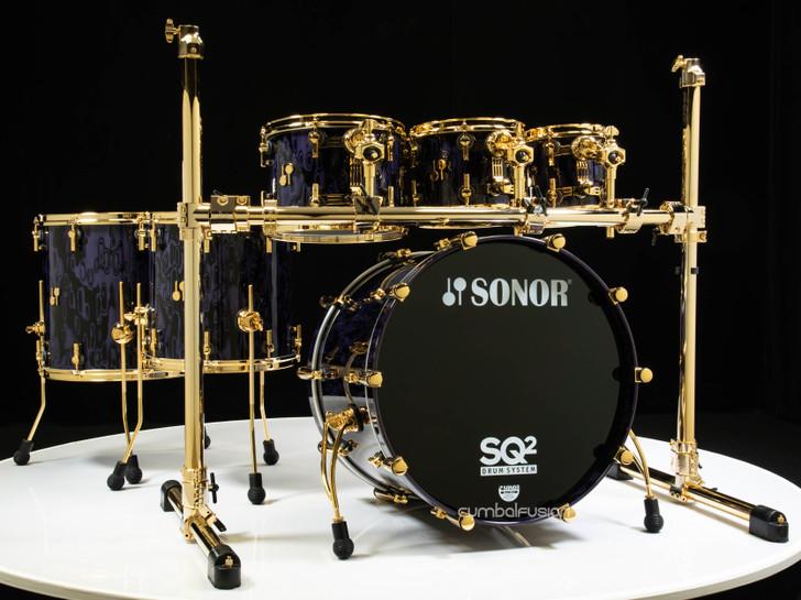 Sonor SQ2 6pc Beech Kit - Violet Tribal w/ Gold HW