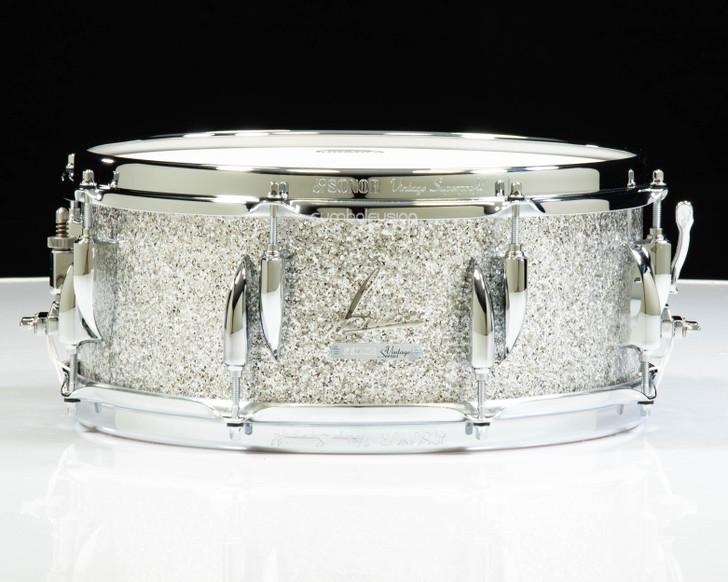 Sonor Vintage Series 14x5.75 Snare Drum - Vintage Silver Glitter