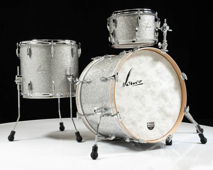 Sonor Vintage Series 3pc Shell Pack 13/16/22 (No Mount)- Vintage Silver Glitter