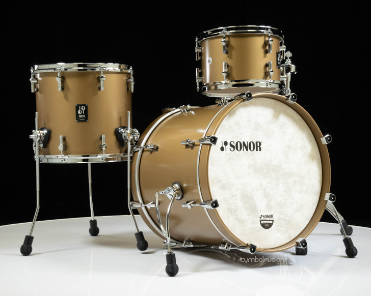 """Sonor SQ1 20"""" 3pc Shell Pack - Satin Gold Metallic"""