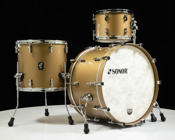 """Sonor SQ1 24"""" 3-piece Shell Pack - Satin Gold Metallic"""