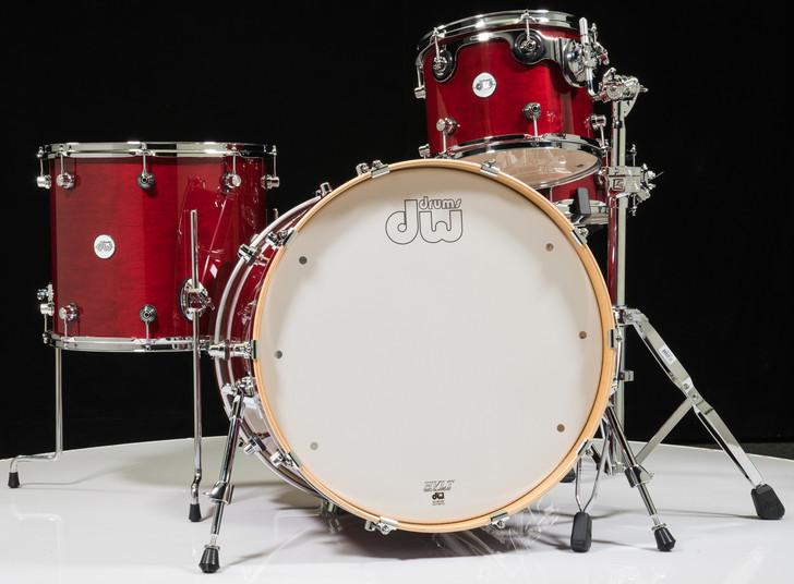 DW Design Series 3pc Drum Set - Cherry Stain 12/16/22