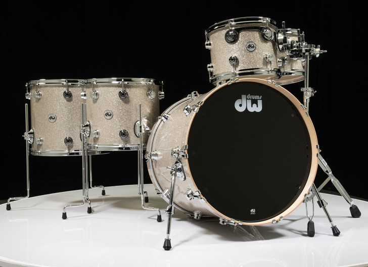 DW Collector's Series Broken Glass 5pc Drum Set 10/12/14/16/22