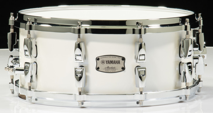 Yamaha Absolute Hybrid Maple 14x6 Snare Drum (Polar White)