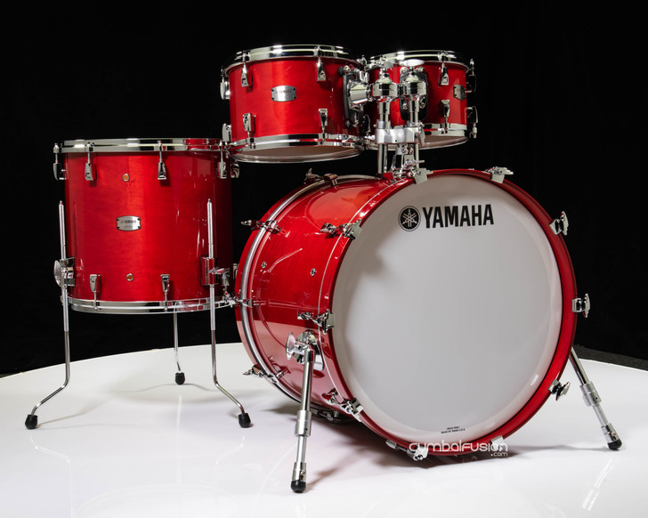 Yamaha Absolute Hybrid Maple 4pc 10/12/16/22 Red Autumn