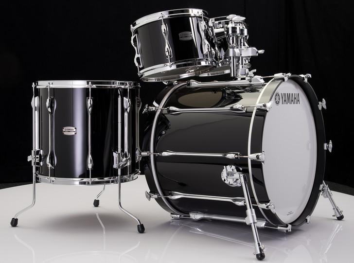 Yamaha Recording Custom 4pc Shell Pack Solid Black
