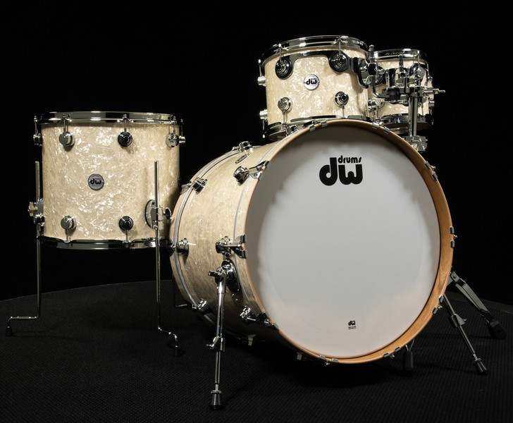 DW Collector's Series Pure Cherry 4pc Kit Vintage White Marine