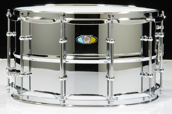 Ludwig 8x14 Supralite Steel Shell Snare Drum