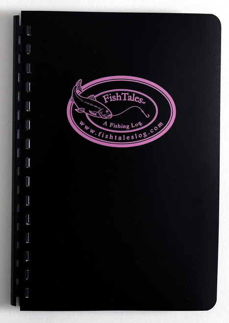 Anglers Fishing Log Book - Pink Logo Comb Bound