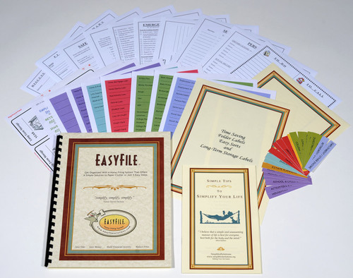 Organize the papers cluttering your home with colorful EasyFile Home Filing System