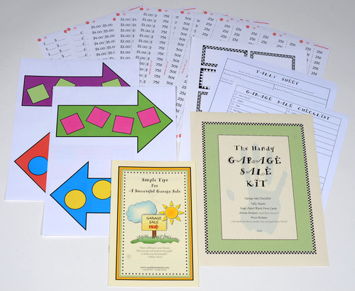 You'll love the handy arrows and price stickers to get your garage sale up and running fast!