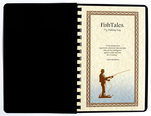 FishTales Comb Bound Fly Fishing Log - to capture your fishing memories.
