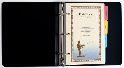 FishTales Fly Fishing Log Book - to capture your fishing memories.