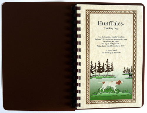 HuntTales Comb Bound Hunting Log Book - makes it easy to log your hunting adventures!
