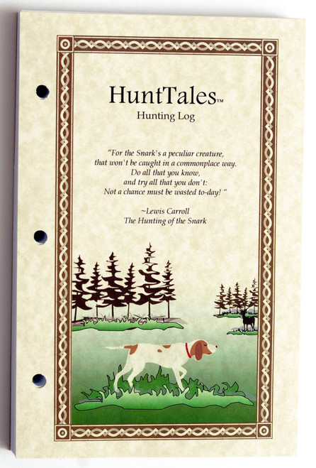 Refill pages fit either the poly or zippered HuntTales Hunting Log Books.