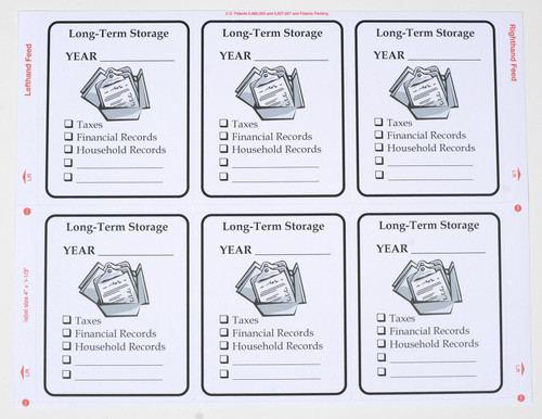 Have lots to archive - These additional long term storage labels will come in handy.