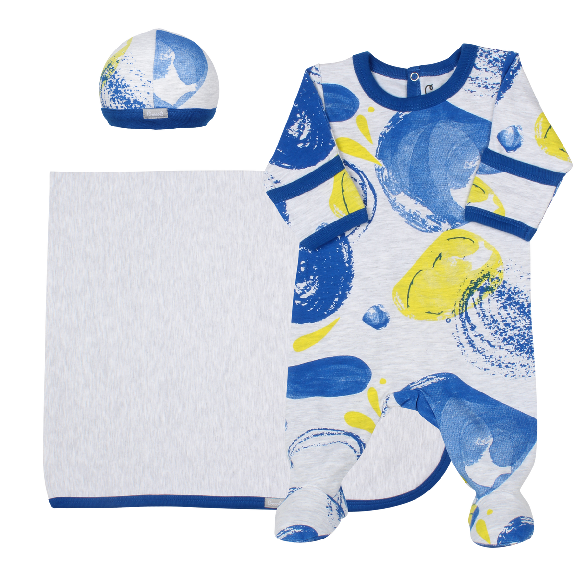 Coccoli   Footie+Blanket+Cap   N-3m   MJ5015-186