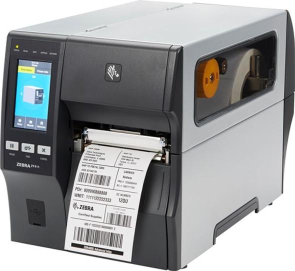 ZT41142-T450000Z Impresora Industrial Zebra ZT411 203dpi Pelador - Rebobinador en Proceso de Impresion