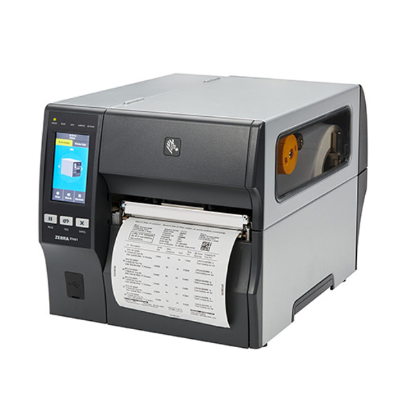 ZT42162-T410000Z Impresora Industrial Zebra ZT421 203dpi - Cortador - Rebobinador en Proceso de Impresion