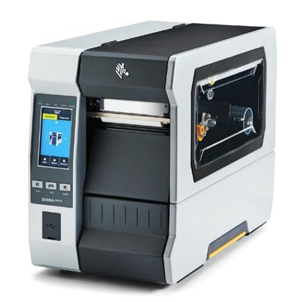 ZT61046-T0102C0Z Impresora Industrial RFID Zebra ZT610 600dpi Pantalla Tactil Lateral Izquierdo