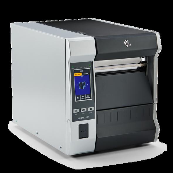ZT62062-T0A01C0Z Impresora Industrial RFID Zebra ZT620 203dpi Lateral Derecho Opcional Pantalla Tactil
