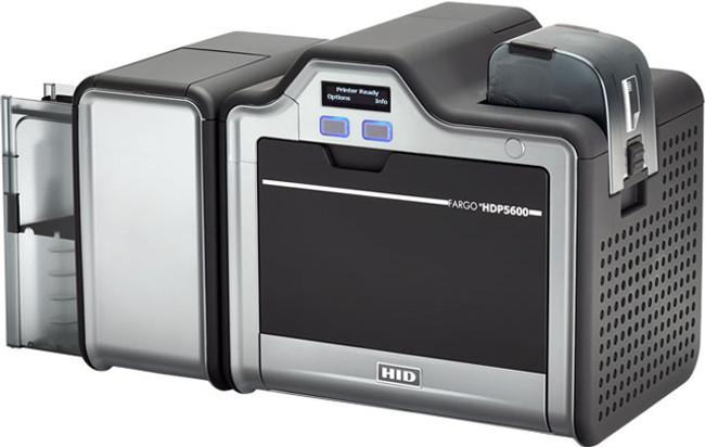 93602 Impresora de Tarjetas de Identificacion Fargo HDP5600 Simplex USB Codificador Contactless iCLASS Omnikey 5121