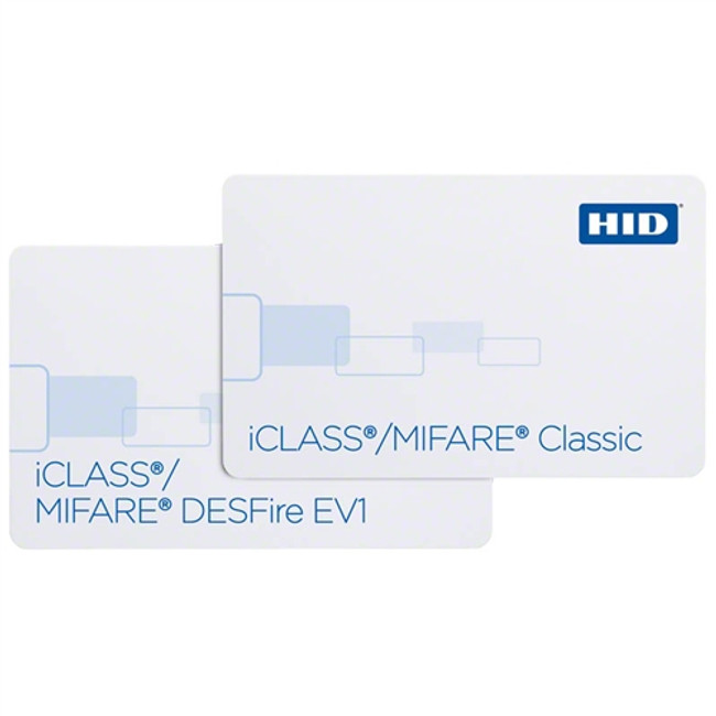 HID 2423 iClass 32k bit & MIFARE 4K classic con 40 Sectores