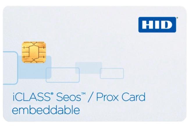 5115 HID Tarjeta Inteligente Proximidad iCLASS SEOS 16K bit de memoria PVC Compuesto Multilaminado